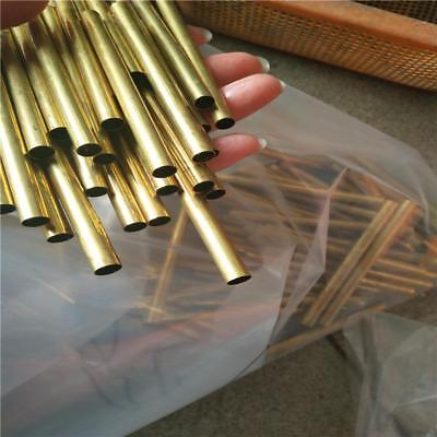 """US Stock 4pcs 12mm OD 10mm ID 1mm Wall 9.85"""" Long H62 Brass Tube Pipe"""