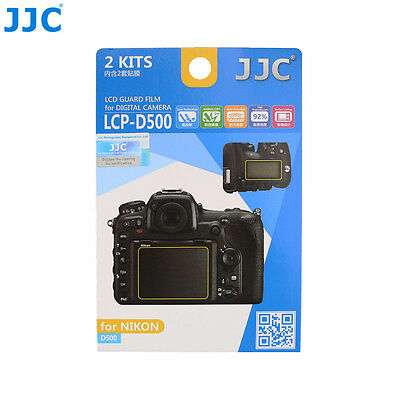 JJC 2PCS LCD Display Guard Film Camera Screen Protector Cover for NIKON D500