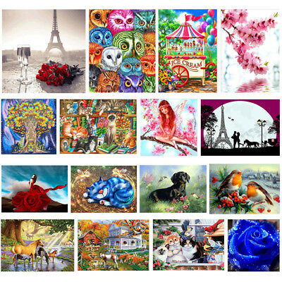 Lot DIY 5D Diamond Painting Embroidery Cross Crafts Stitch Kit Home Decor Art