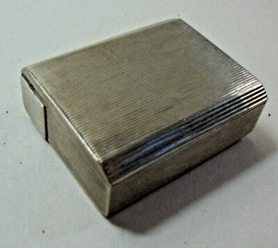Early 20th century unmarked soild silver ladies powder compact & lipstick