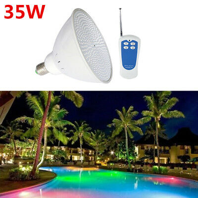 Par56 RGB LED Swimming Pool Light Fountain Bulb Lamp 35W E27 AC 12V/110V/220V