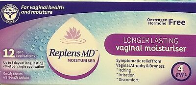 Replens MD Vaginal Moisturiser 12 Applications Itching, Irritation, Discomfort