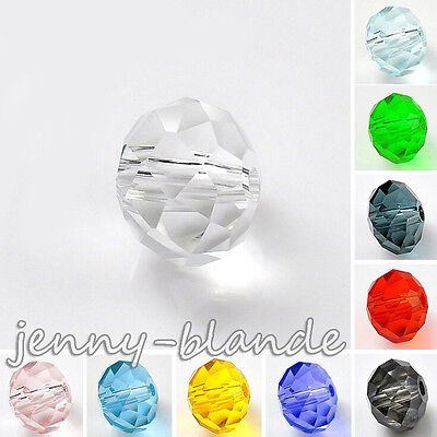 Clear Czech Glass Crystal Rondelle Loose Spacer Bead Charm Finding 4/6/8/10mm