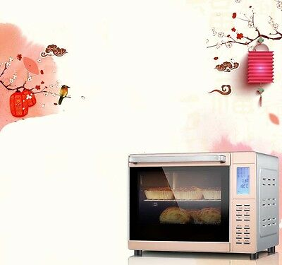 33L Home Commercial White Multi-function Heating Benchtop Electric Oven *