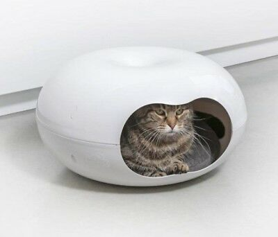 New Cat House Doonut Bed Kitten Puppy Chihuahua Sleeping Cushion Cats Cave Beds