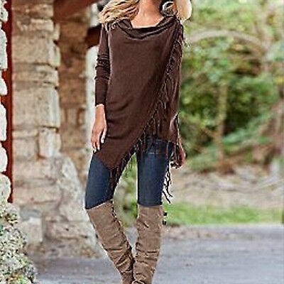 Ladies Winter Loose Long Sleeve Cotton Casual T Shirt Tunic Tops Fashion Blouse