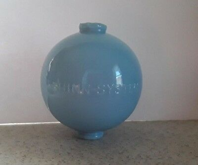 Shinn System Blue Glass Lightning Rod Ball Barn Garden Roof Patio Home Decor