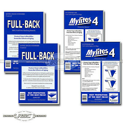 100 - E. GERBER FULL-BACK & MYLITES 4 STANDARD Mylar Bags & Boards! 700FB/725M4