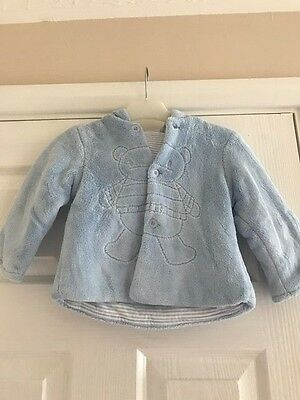 Boys Mayoral Soft Blue Hooded Fleece Coat 4-6 Months (Excellent condition) #890H