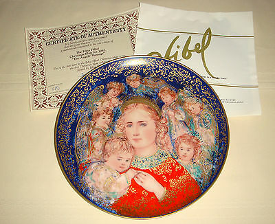 EDNA HIBEL Annual Christmas Mary & Baby Jesus Inspirational ANGELS MESSAGE Plate