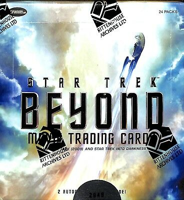 2017 Star Trek Beyond Movie sealed card box 2 autograph 1 Costume/Relic or Pin