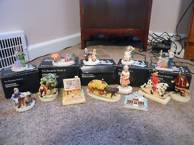 13 Vintage Sebastian Miniatures, Some Rare, 5 With Boxes, Nice Grouping