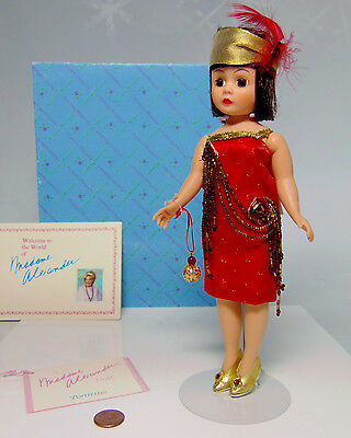 "MIB Madame Alexander RUBY JULY DOLL 9.5"" Portrettes 1151 Red Flapper Dress BOXED"