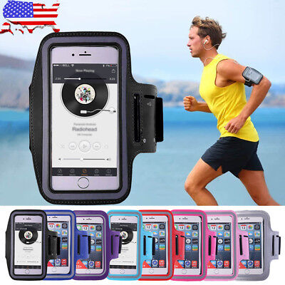 iPhone X/ 7/ 8 Plus Sport Running Armband Jogging Gym Arm Band Pouch Holder Bags