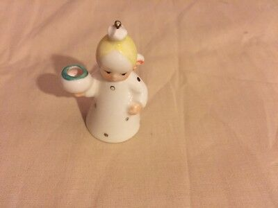 Miniature Goebel Angel Candle Ornament W Germany