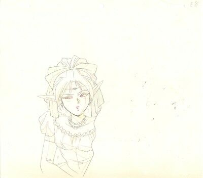 Anime Genga not Cel Record of Lodoss War #34