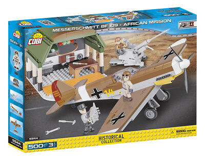 COBI 5544 - SMALL ARMY - WWII Dt. MESSERSCHMITT BF109 F-4 TROP - AFRICAN MISSION