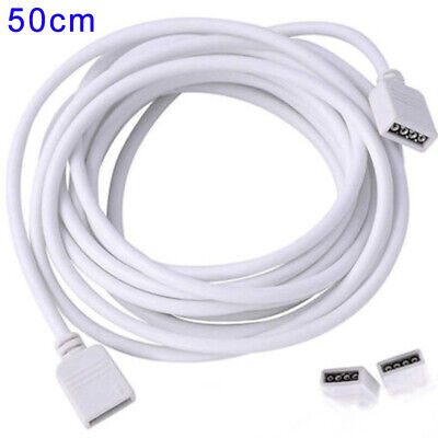 4Pin Extension Connector Cable Wire For SMD5050 3528 RGB LED Strip Lights 0.5-5m