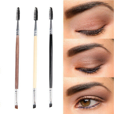 5PCS Eyebrow Brush Dual-ended Duo Brow Eyeliner Angled Cut Spoolie Makeup Tool