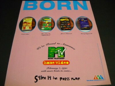 MTV on Home Video 1995 Promo Ad BEAVIS AND BUTTHEAD more..stick it in press play