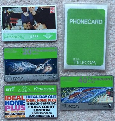 British Telecom Phonecards 1980's / 90's including original wallet + BT leaflet.