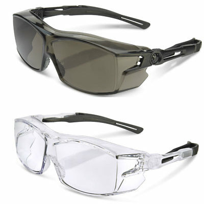 B-Brand H60 Clear Safety Cover Specs Spectacles Glasses Fits Over Prescription