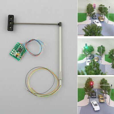 3x HO/OO Traffic Signal LED Light Model Train Architecture Crossing Street