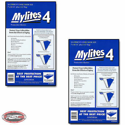 100 - E. GERBER MYLITES 4 CURRENT / MODERN 4-Mil Mylar Comic Bags Sleeves 700M4