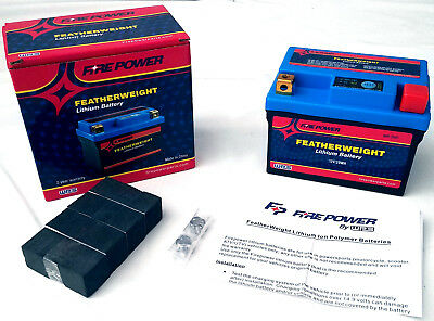 FeatherWeight Lithium Battery Fire Power HJTZ7S-FP-IL - Motorcycle Applications