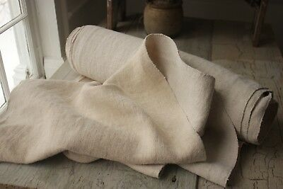 SOFT WASHED LINEN Antique vintage 12.5 YARDS organic fabric upholstery material