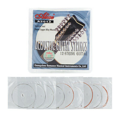 Alice 12-String Acoustic Guitar Strings Set Steel & Copper Alloy Wound Strings