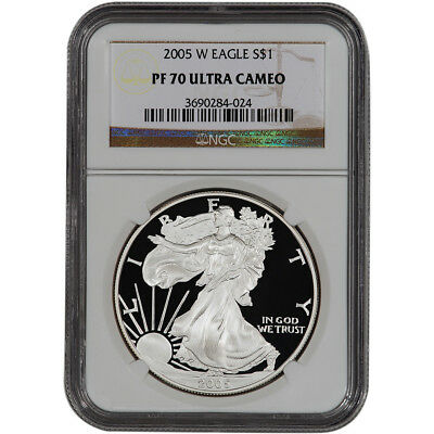 2005-W American Silver Eagle Proof - NGC PF70 UCAM