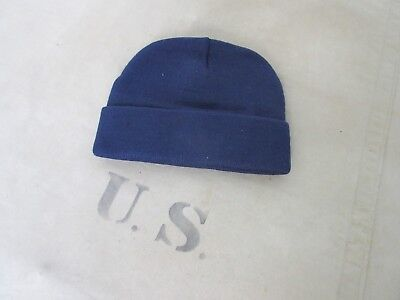 US Army Watch Cap Navy Blue Short Size Knitted Cap Wool Hat Marines USMC WWII