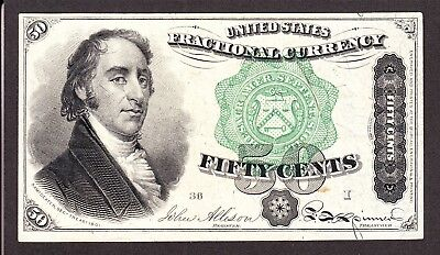 US 50c Fractional Currency FR 1379 Ch AU (-013)