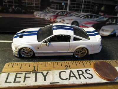 JADA 2007 White FORD SHELBY GT-500 SCALE 1/64 DIORAMAS! - LOOSE!