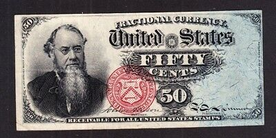 US 50c Stanton Fractional Currency 4th Issue FR 1376 VF-XF (-013)