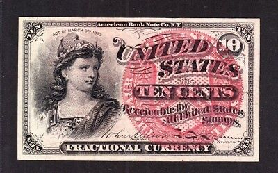 US 10c Fractional Currency 4th Issue FR 1258 Ch CU (-013)
