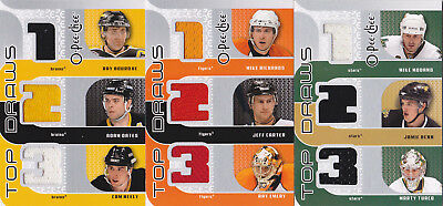 09-10 OPC Ray Bourque Adam Oates Cam Neely Jersey Top Draws Bruins 2009