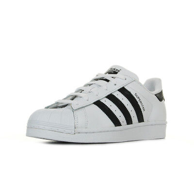 CHAUSSURES BASKETS ADIDAS femme Superstar taille Blanc Blanche Cuir Lacets