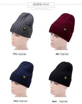c97b4c0cd42 New Men Women Black Gray Red Winter Warm Knitted Wool Skullies Beanie Hat  Cap