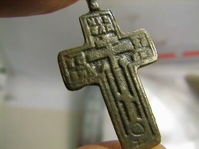 Nice Late Medieval Period Church Bronze Cross ! #6836
