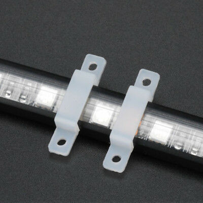 50/100x for LED Strip Light Holder Soft Silicone Fixing Clip 10/12/14/17mm Width