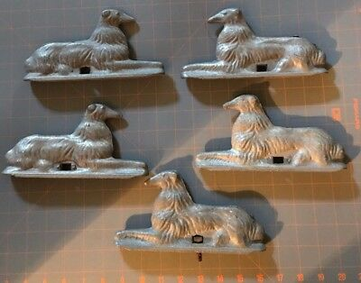 5 Vintage Hurricane Fence Co Fancy Dog Fence Topper Decorative Cast Aluminum