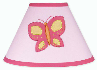 New Sweet Jojo Designs Lamp Shade for Pink Orange Butterfly Baby Kid Bedding Set