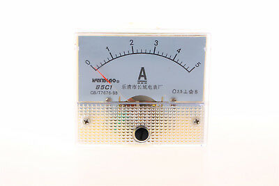85C1-A Analog Current Panel Meter DC 5A Ammeter Ampere Gauge Tester