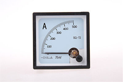 1pcs DC 500A Brand New Analog AMP Panel Meter and Shunt