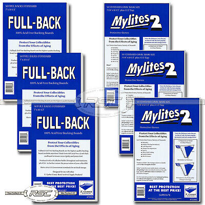 150 - Full-Back & Mylites 2 Standard Mylar Comic Bags & 42pt Boards by E. Gerber