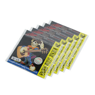 5PCS E-6 Acoustic Guitar Strings Steel Core Coated Copper Alloy Wound Strings