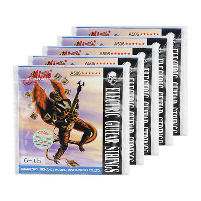 "5PCS Alice Electric Guitar E-6th Strings Single .046"" Nickel Alloy Wound Strings"