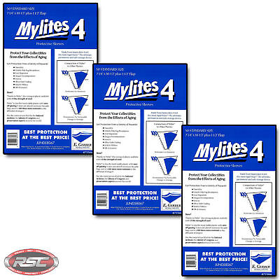 150 - E. GERBER MYLITES 4 STANDARD 4-Mil Mylar Comic Bags Sleeves! 725M4